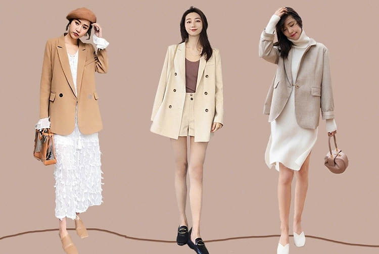 春天流行的小西装怎么穿更好看?27套搭配示范,一个月美的不重样