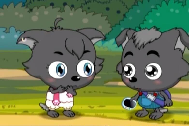 红太狼灰太狼爱情感人,小灰灰和女朋友也疯狂撒狗粮,太羡慕了