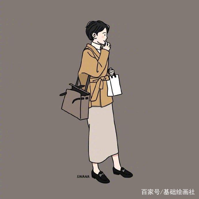 子_人物插画,女孩子高价值单身的日常活动