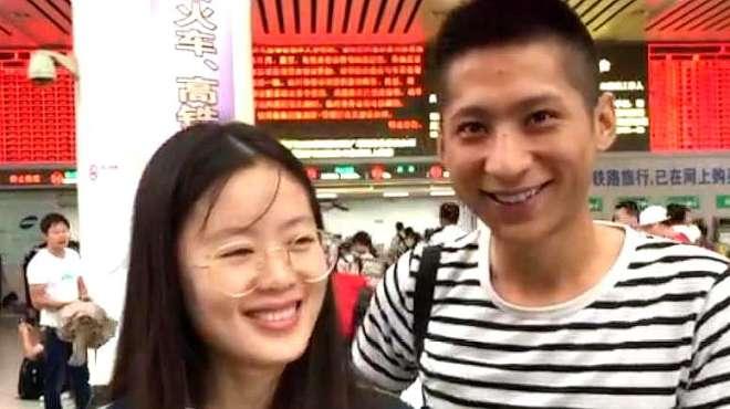 女生冒着台风赶到上海:来给男友道歉
