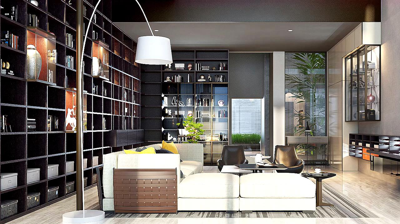 别墅装修成黑白灰色调现代风格,大气又显品味