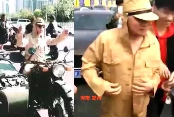 精日分子的诞生?河南男子街头穿日式军服迎亲,网友一致要求抓人