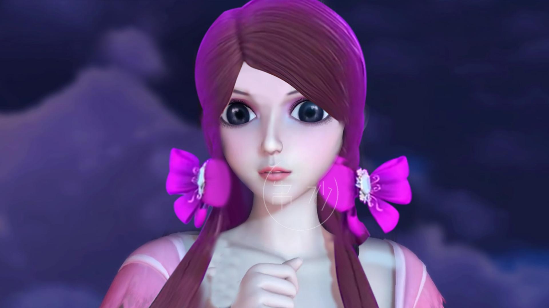 叶罗丽仙子换上文茜新发型后,罗丽化身邻家少女,王默变大头娃娃图片