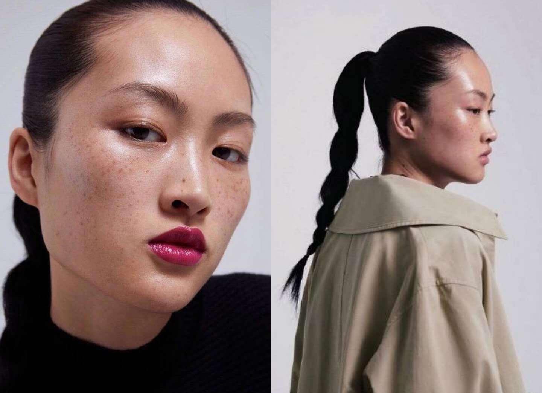 中国模特满脸雀斑的照片引争议,活在ps的世界