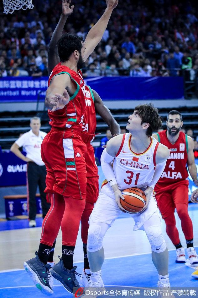 2018年12月2日,2019年男籃世界杯亞洲區預選賽:中國vs黎巴嫩.圖片