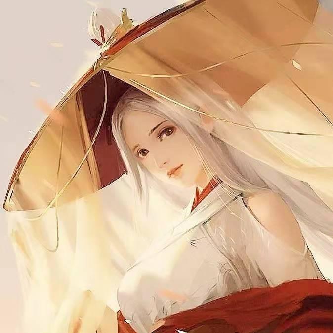 古风手绘唯美动漫女生头像,悲伤泪流,如今只得叹年华!