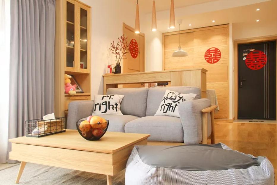 """56平小婚房,沙发不靠墙等于""""多间房""""!全屋实用极了,晒晒!"""