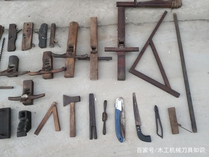 老木工工具108件,已经很难见到这么齐全的传统木工图片