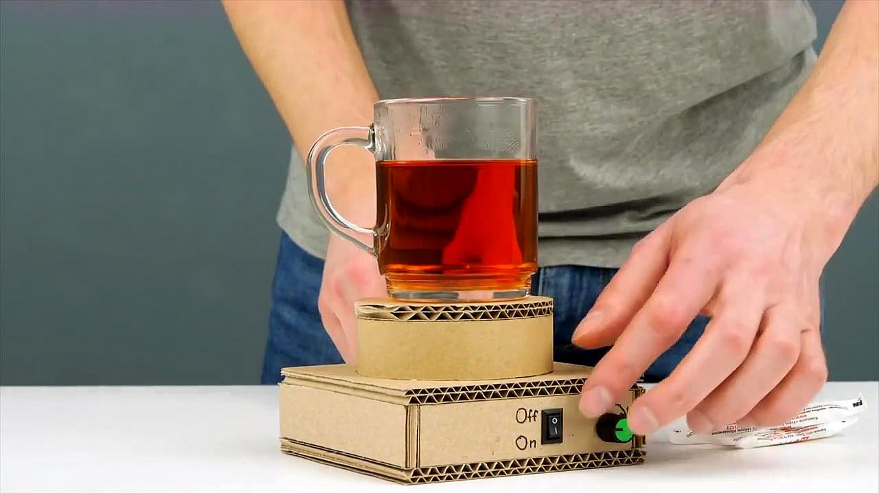 如何用纸板DIY神奇的磁性搅拌器,可搭配任何杯子!
