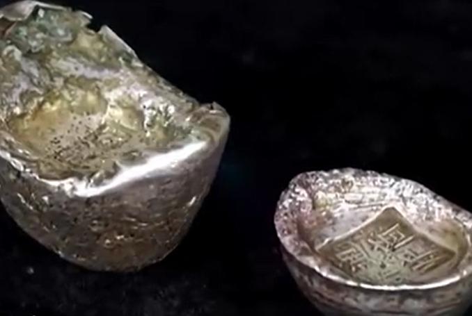 小伙拿祖传银锭上台 一个五两一个十两 专家:都是清代的真品