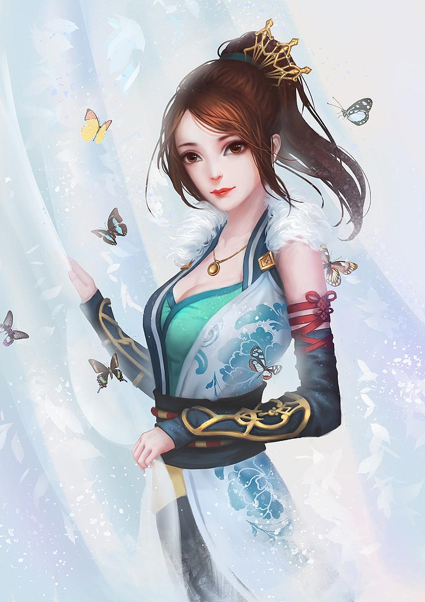 古风手绘女生唯美壁纸,愿你脚踏善良,从此拥有远方!