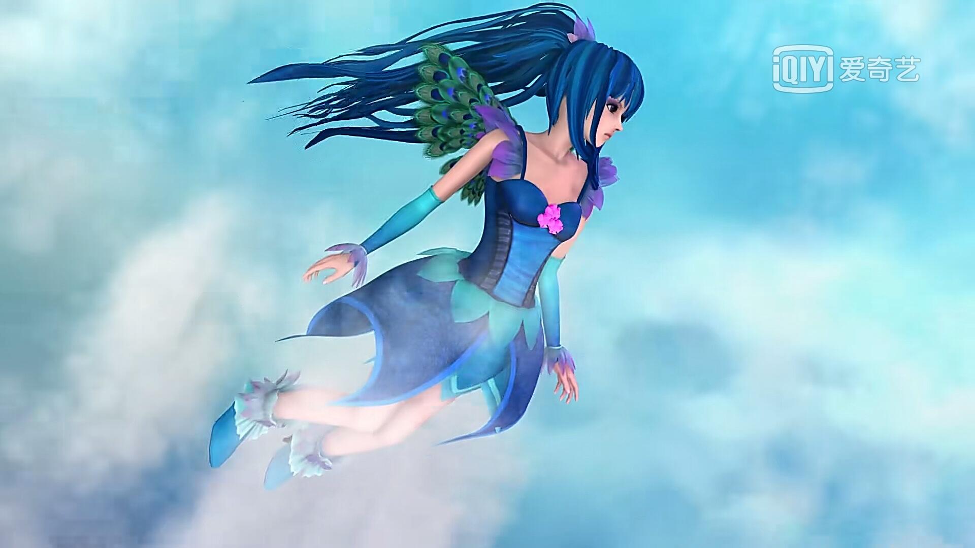 叶罗丽中最唯美的飞行姿势,灵公主很有气质,白光莹最图片