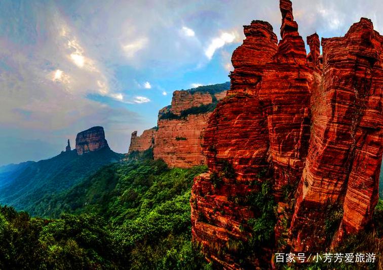 嶂石岩,国家级风景名胜区,位于石家庄西南的赞皇县境内