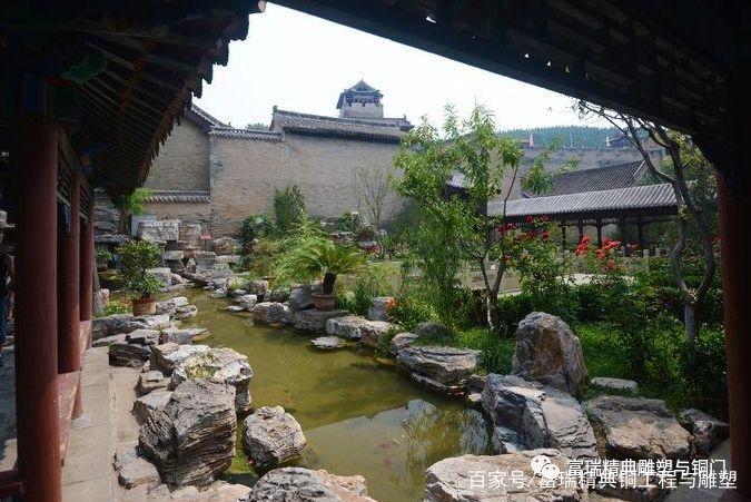 中式,庭院,铜门,别墅门