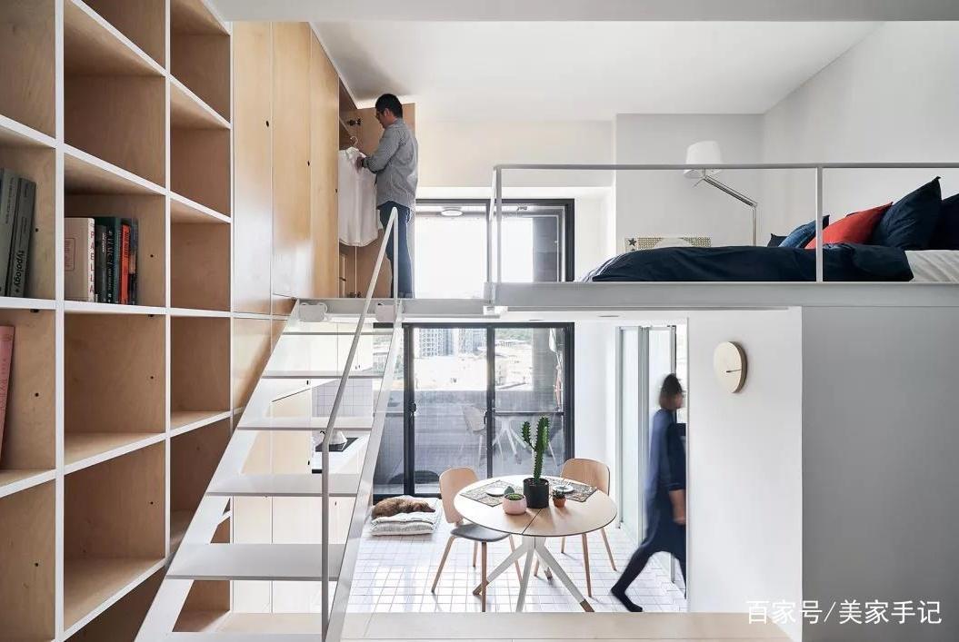 33平一居室,巧用层高打造双层空间!全屋温馨敞亮漂亮极了!晒晒