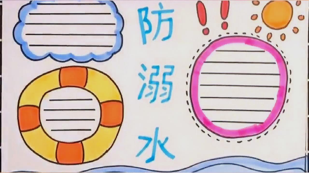 手注意:简单防抄报手溺水,暑假v初中要经历a初中哦!抄报初中英语作文图片