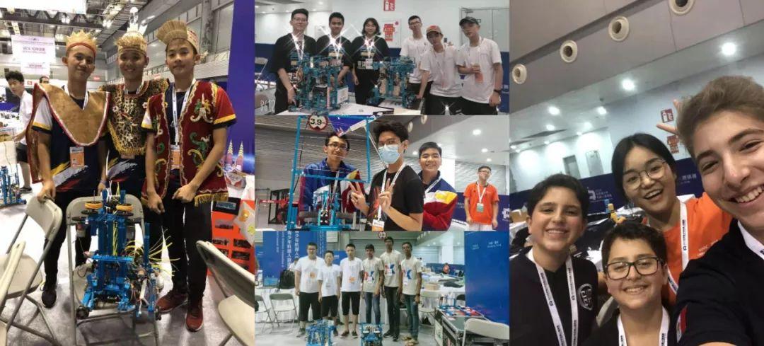 MakeX赛事中外队伍的学生们合影纪念
