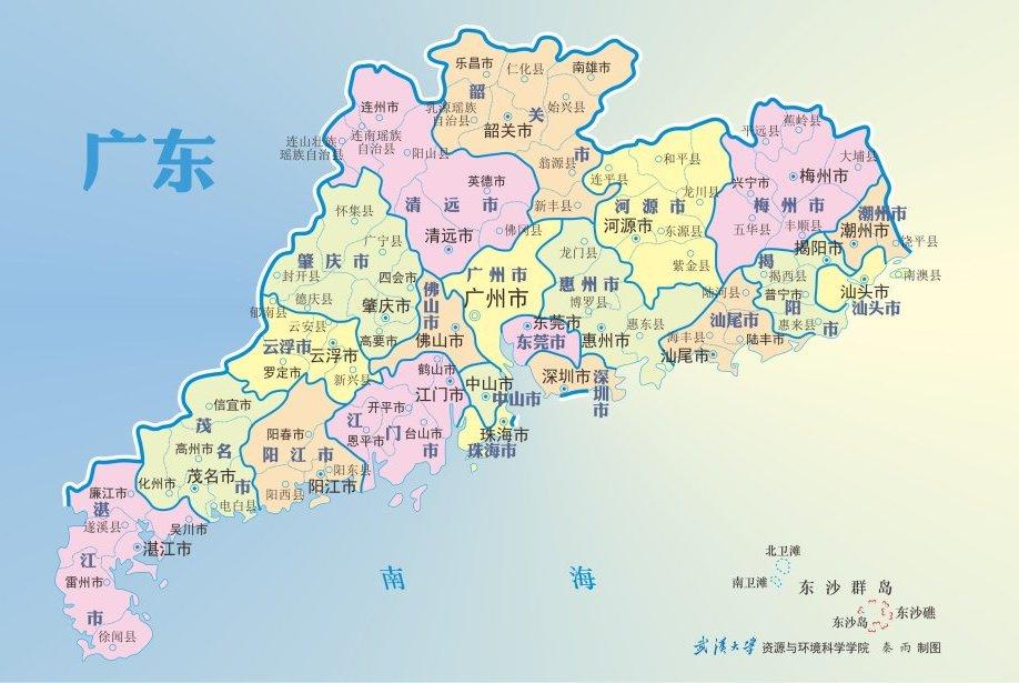 清朝时期,广东七大直隶州,现有四个为地级市