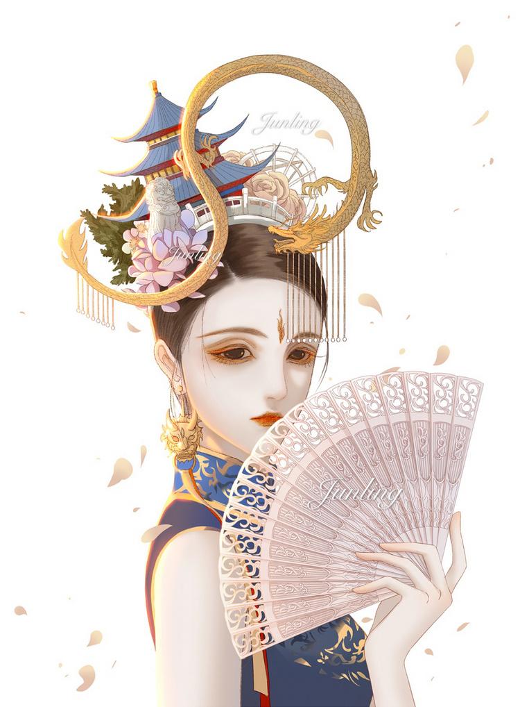 古风手绘女生唯美壁纸,说太阳温暖的人,一定没见过你