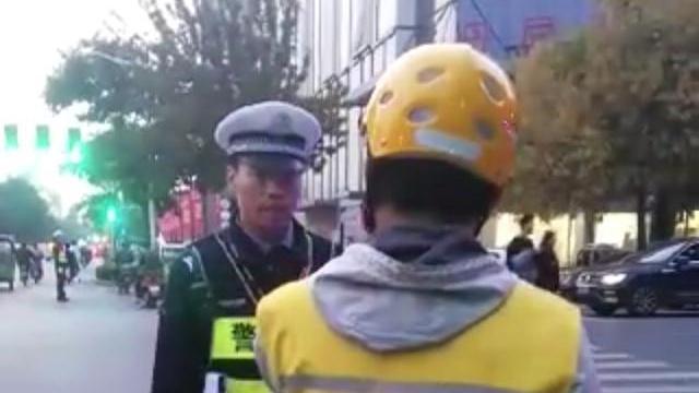 """漯河交警""""怒怼""""外卖小哥后走红网络:若人都没了你上哪挣钱去?"""