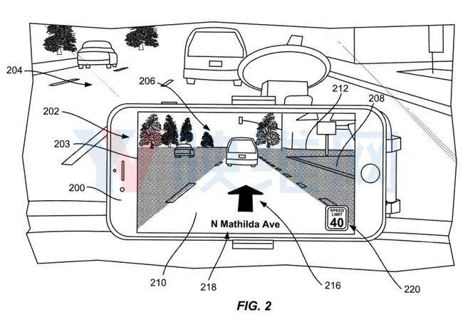 苹果汽车专利曝光:iPhone AR地图导航