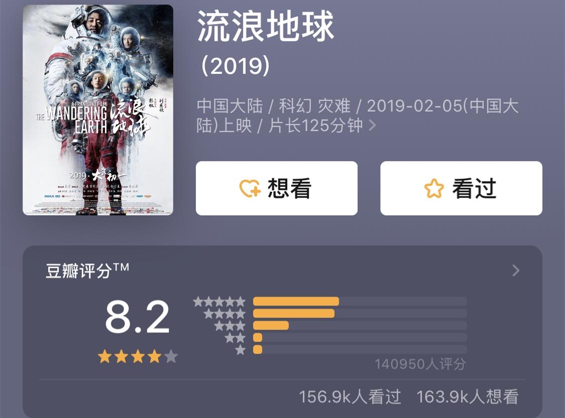 《评分西瓜》影音流浪8.2分大圣伏妖地球电影豆瓣图片
