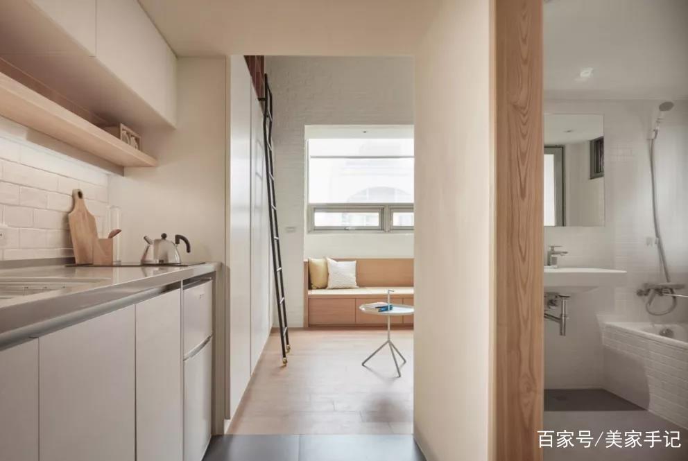 22平一居室,舍弃电视墙,把床吊玄关上!完工变通透小豪宅!晒晒