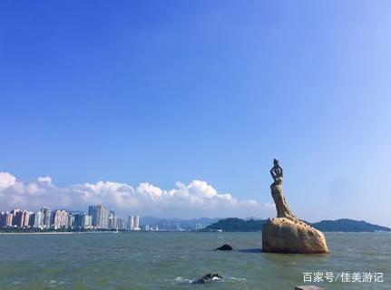 珠海渔女,矗立在珠海风景秀丽的香炉湾畔,是珠海的标志性景观