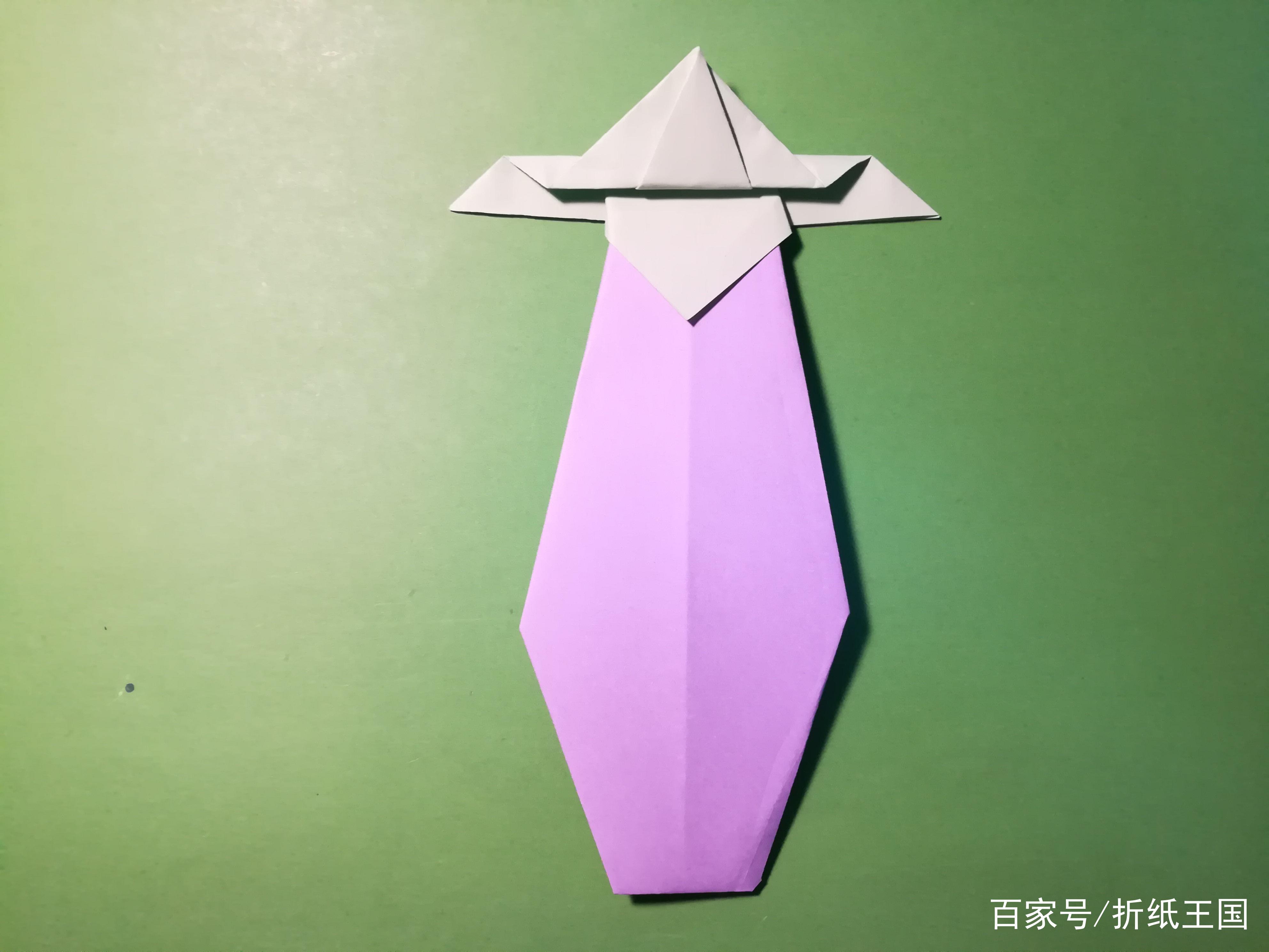 折纸王国:手工制作折纸茄子的教程,2分钟就能学会!