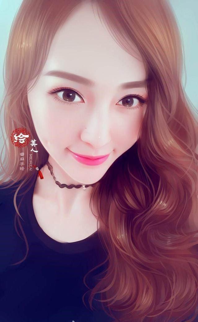 5张明星手绘图:杨幂冷艳,赵丽颖可爱,而她居然卖萌?