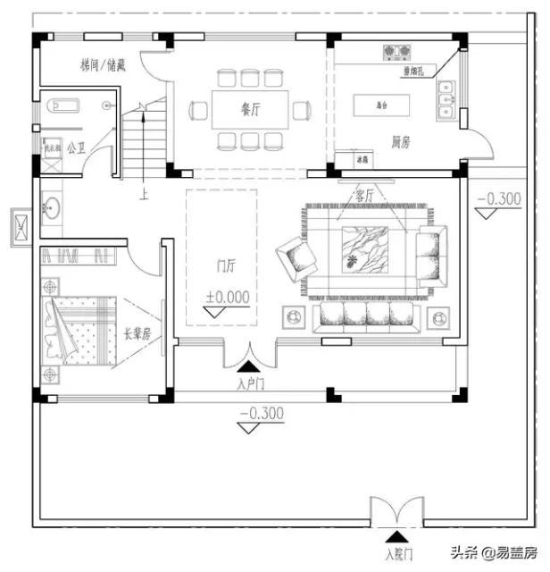 下面看看楼房的平面设计图