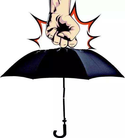 伞的黑白矢量图
