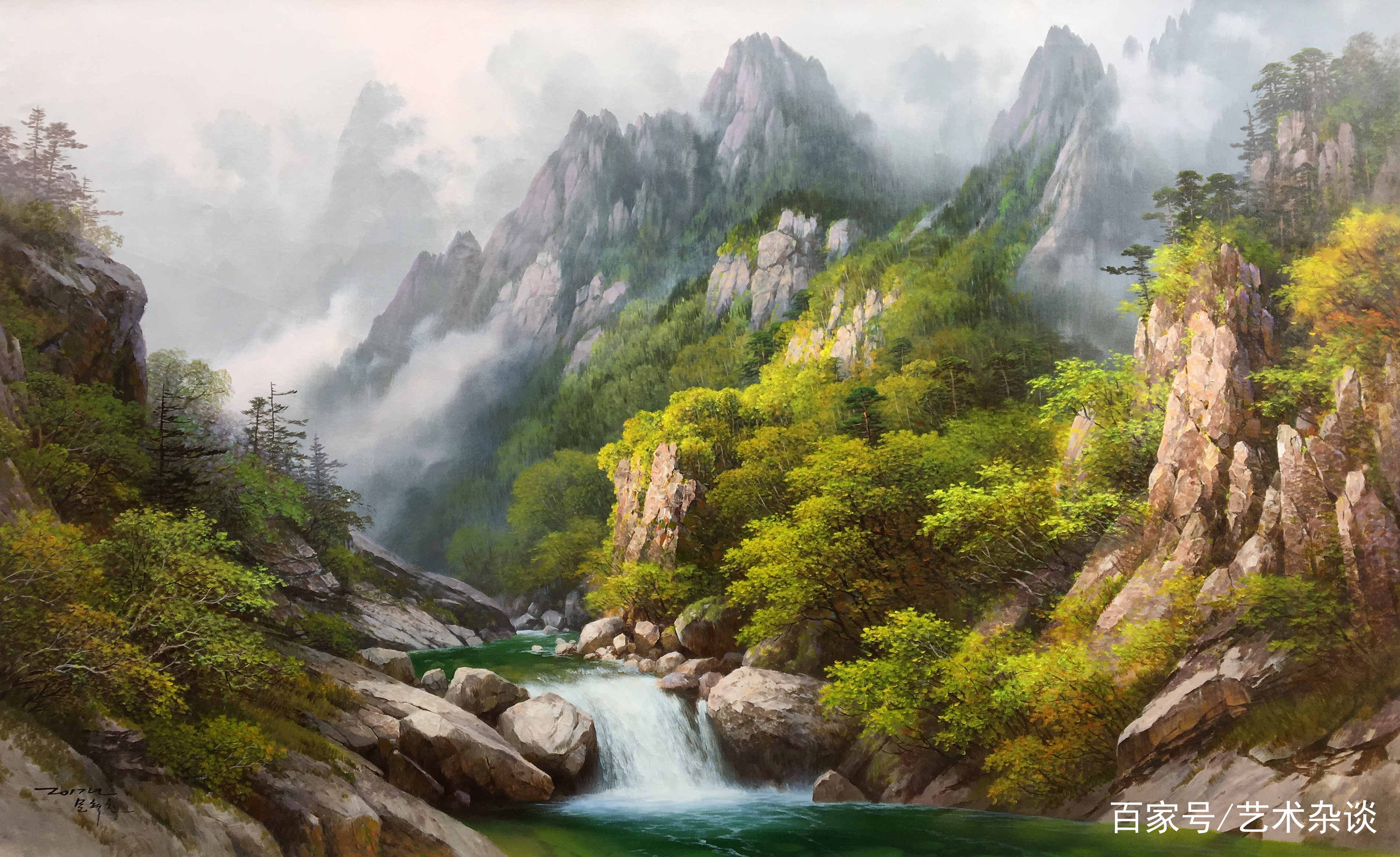 朝鲜画家的风景油画,大家觉得如何