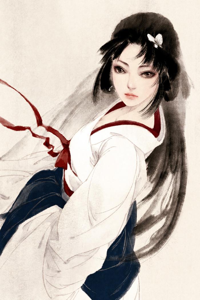 古风手绘倾城倾国美女子壁纸,芙蓉花暖醉人心,美人容