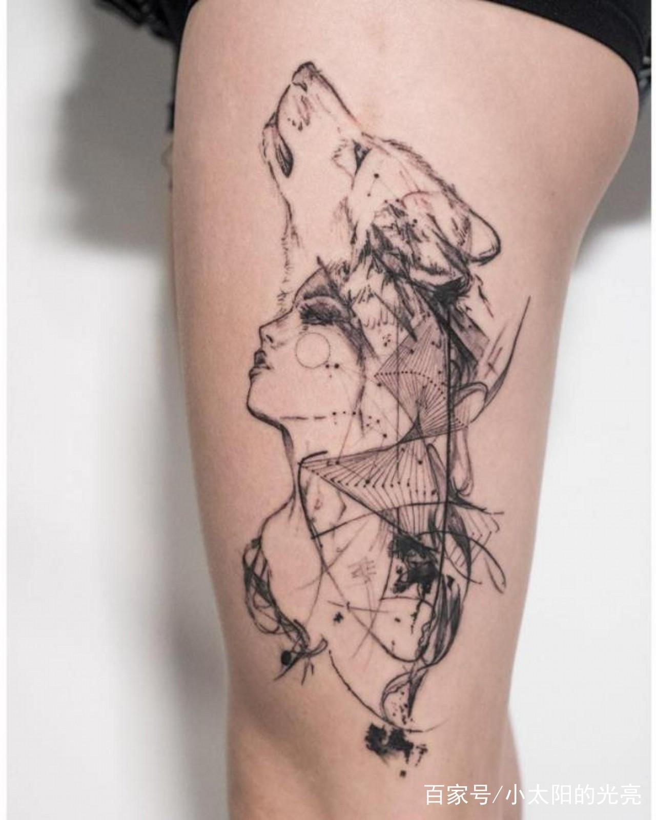 12星座的独特纹身:天蝎座是狼的图案,处女座是简单的