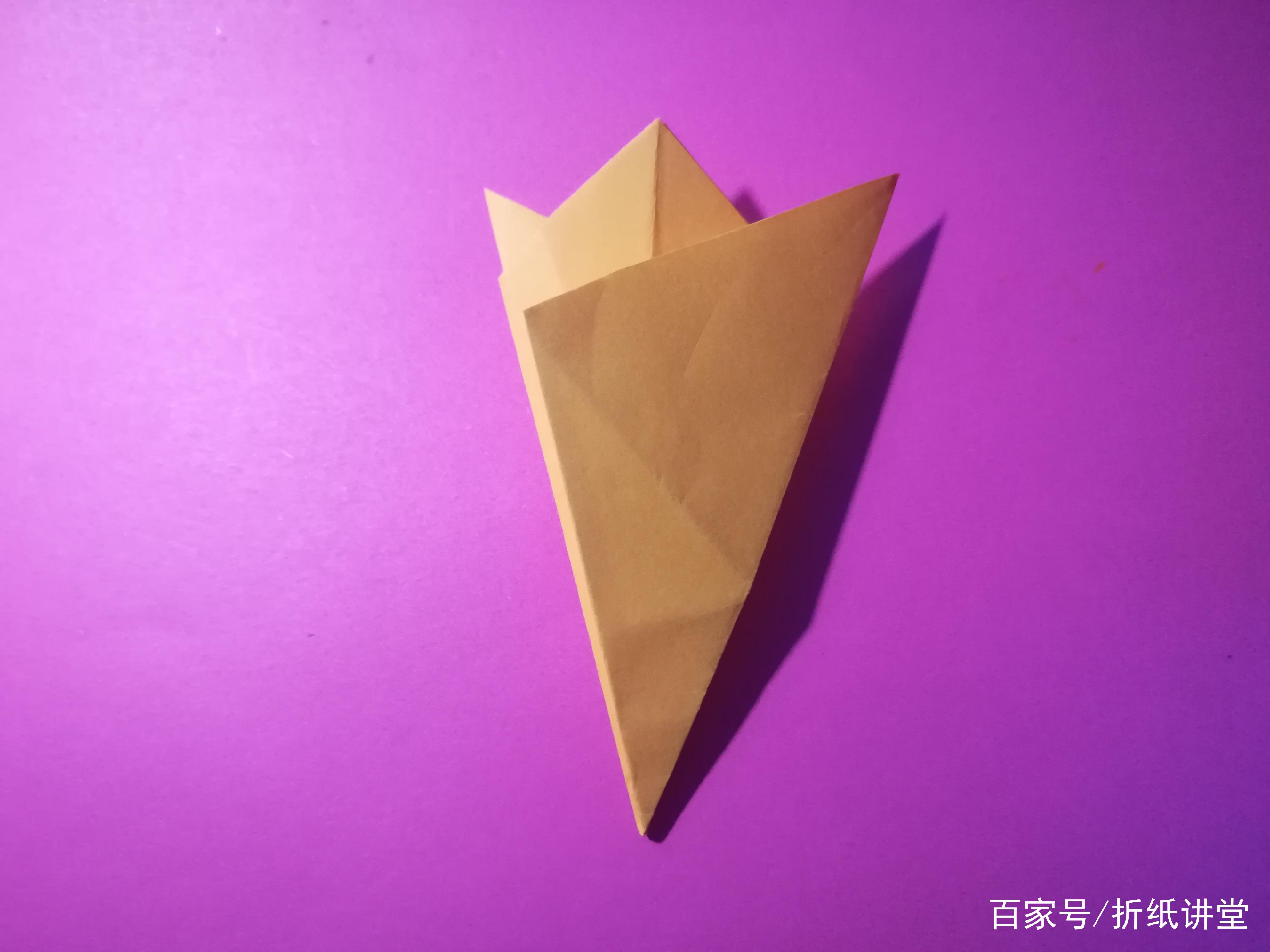 折纸讲堂:迎春花折纸的制作图解,2分钟就能学会!