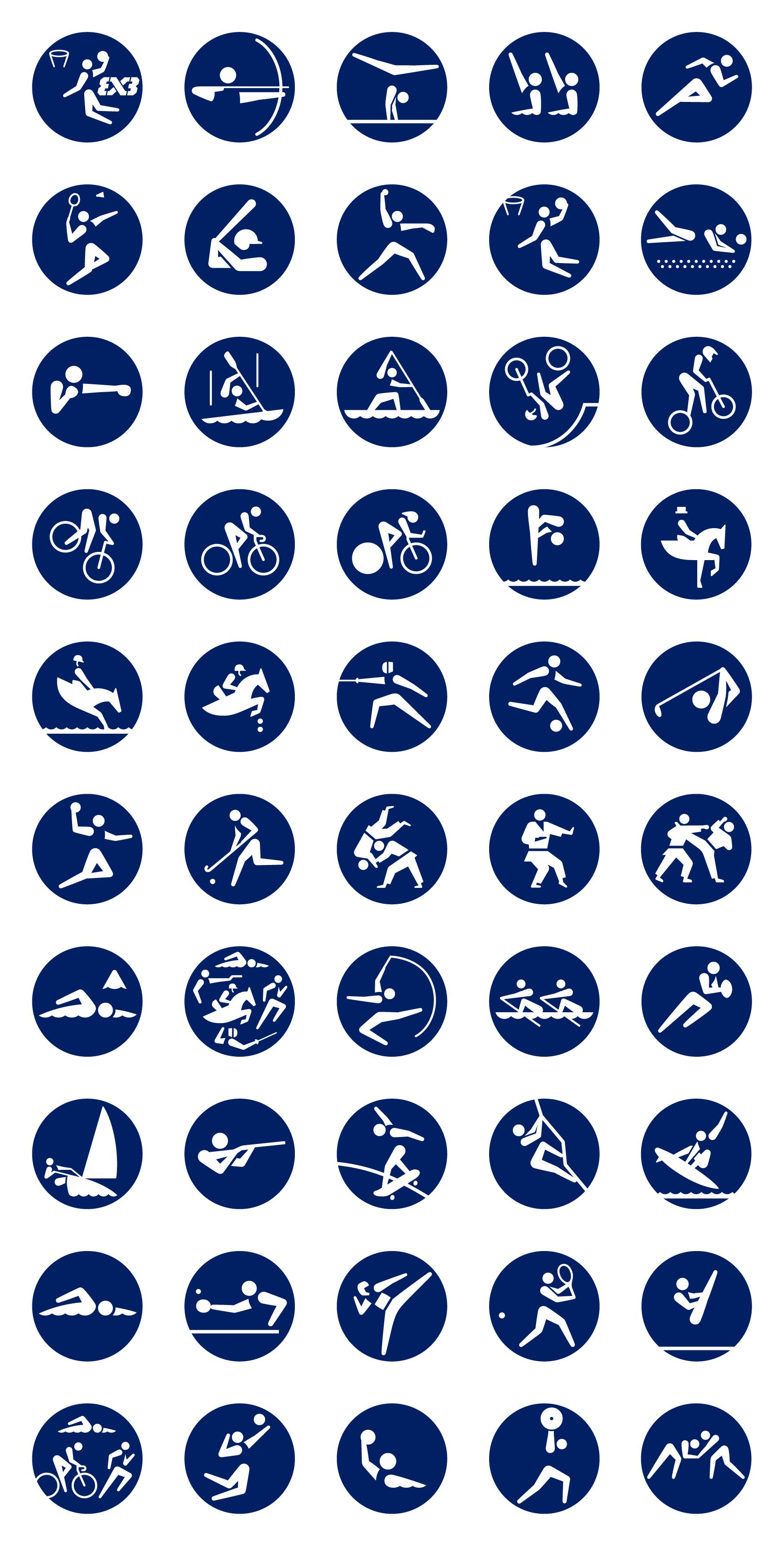 奥运会——东京奥组委发布奥运会体育图标