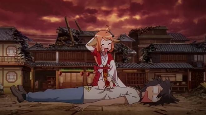 《狐妖小红娘》苏苏趴在白月初的肚子上,哈哈尴尬了