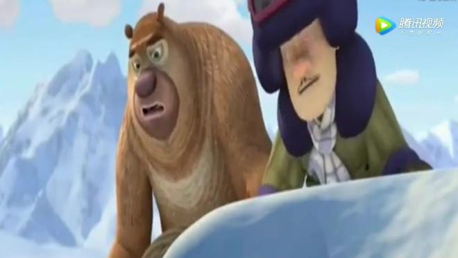 原来是卡住了啊! 熊熊拉她上来, 熊出没之探险日记: 赵琳掉入冰缝