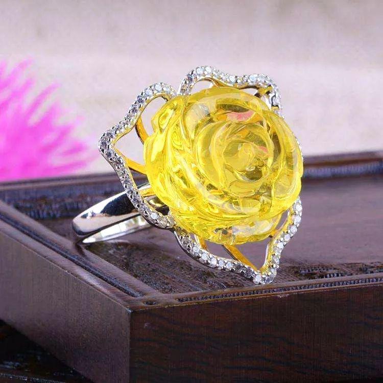 送人送礼佳品-琥珀蜜蜡各种名贵花朵形状的首饰