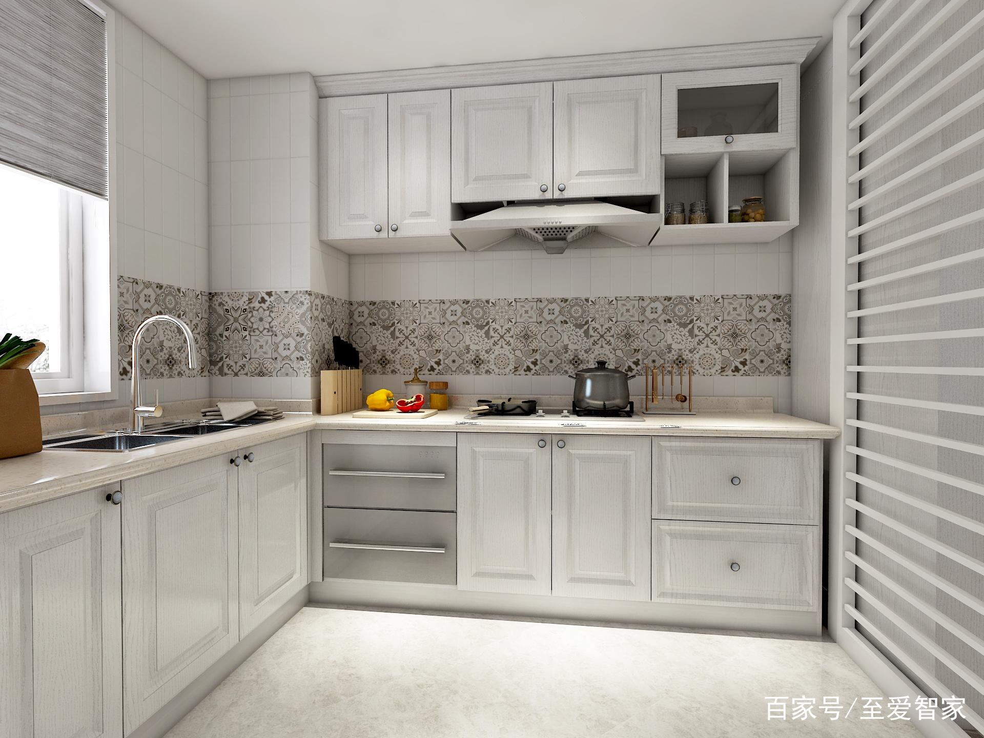 这个比较适合正方形的小厨房.