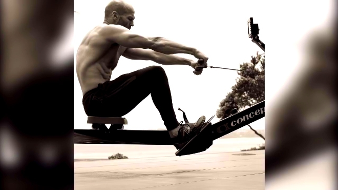 杰森斯坦森,最新健身自拍集锦