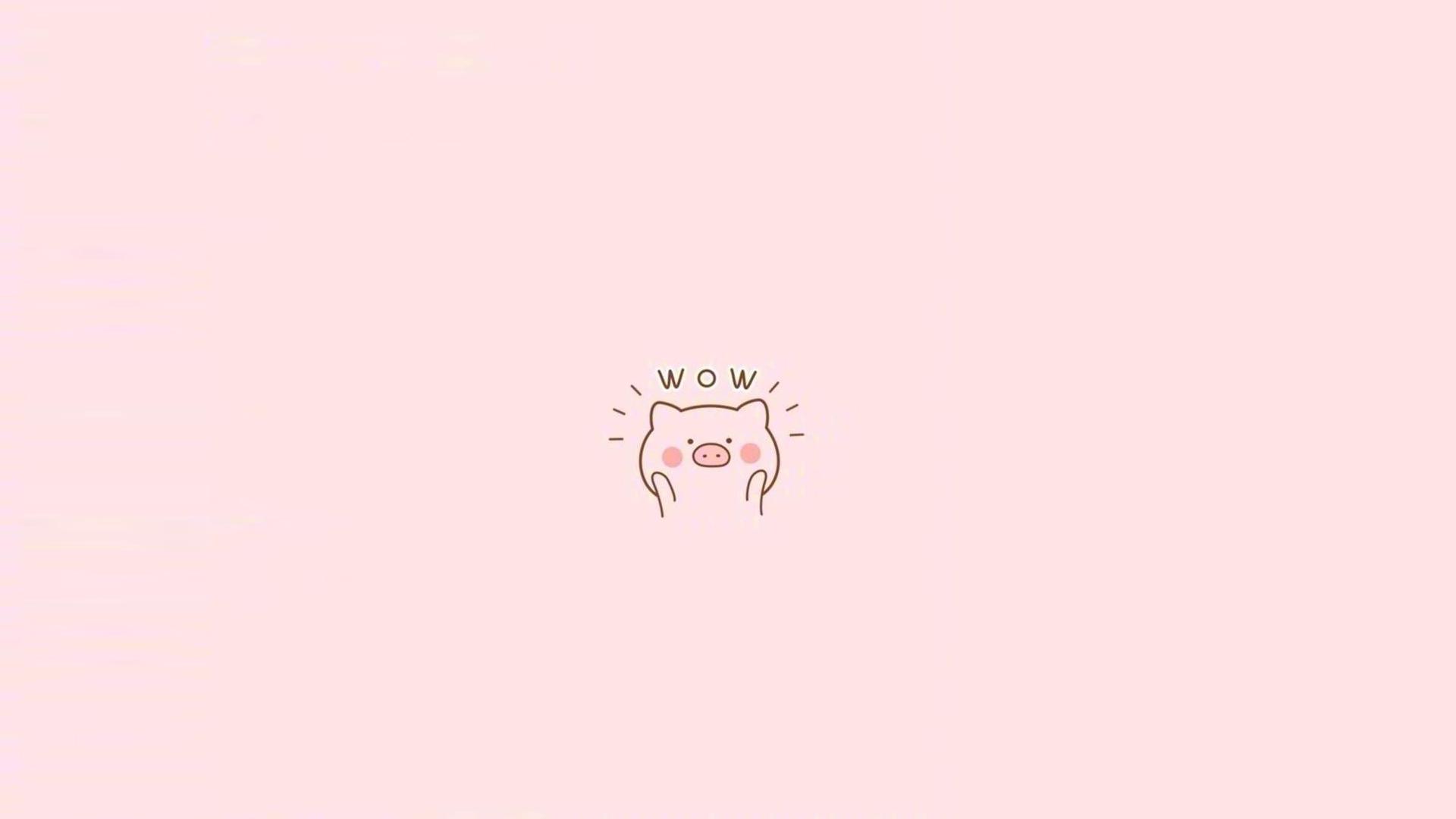 粉色系可爱卡通小猪图片壁纸,分辨率:1920x1200