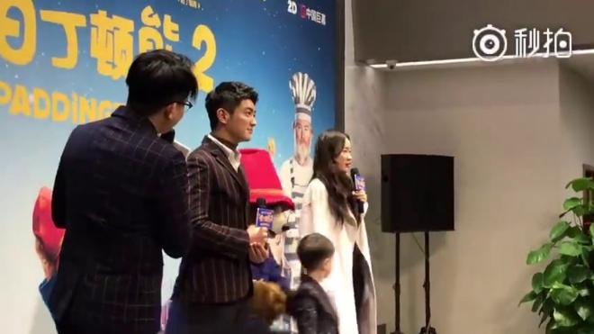 熊孩子被抓了是指12月8日《帕丁顿熊2》欢乐上演 带着儿子出席 首映发布会