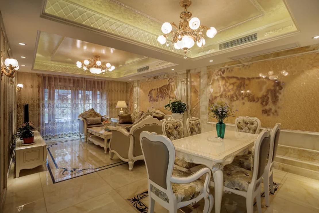 """老公为院子买一楼,硬给沙发墙装""""玉石""""!太明智了,晒晒全屋"""