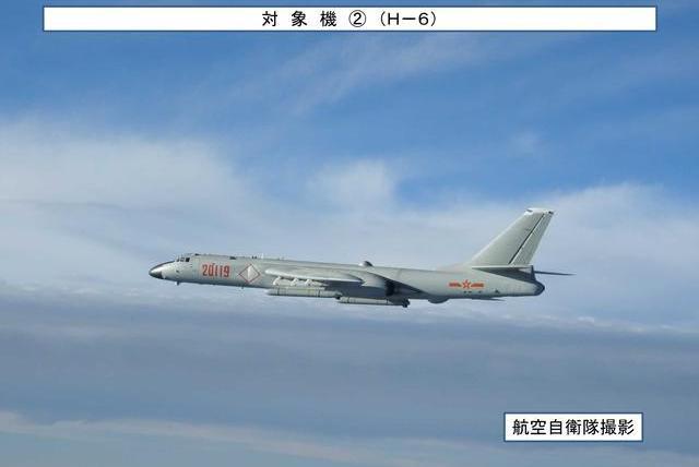 7架战机编队宫古海峡自由飞行!日本战机紧急起飞伴随!