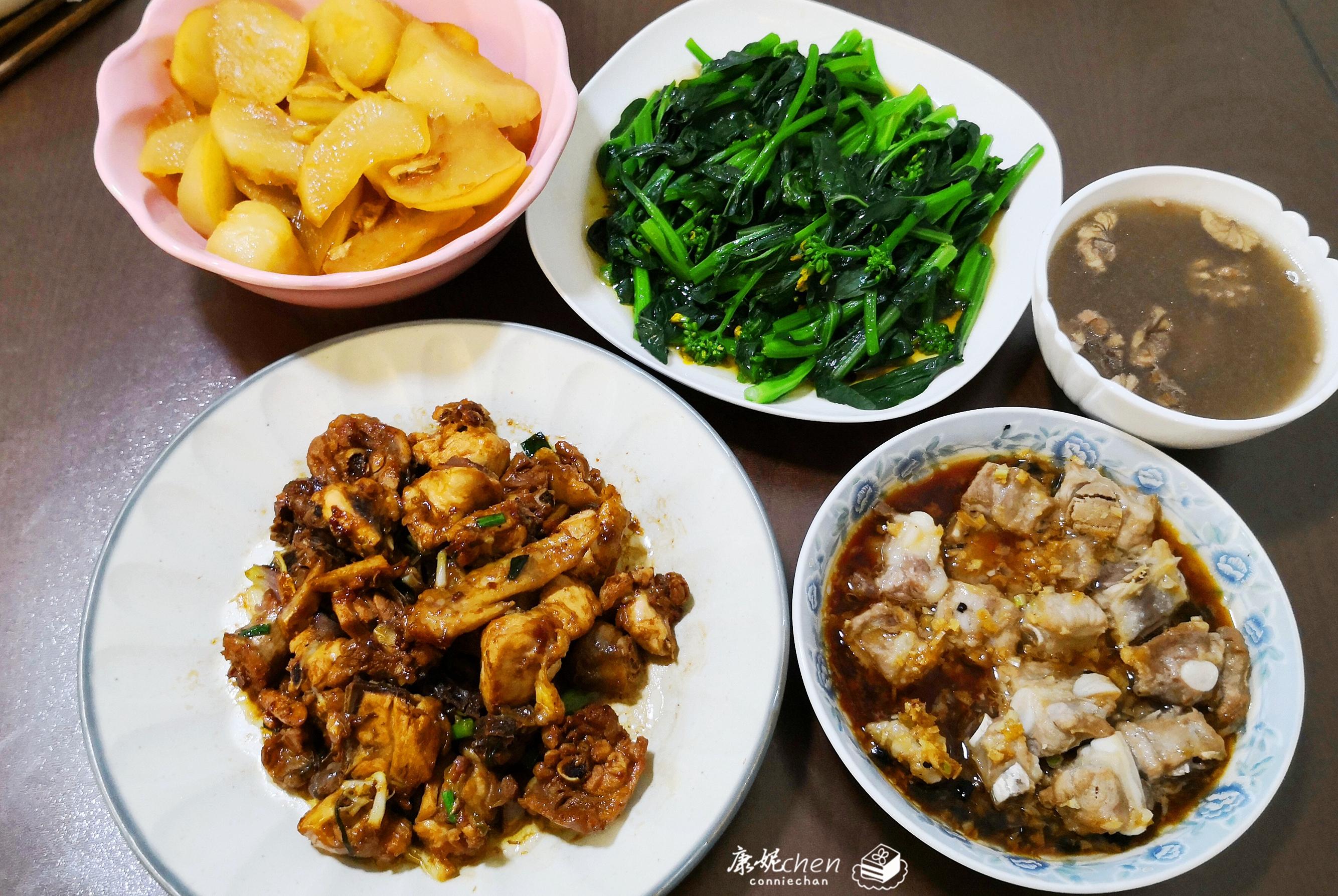 我做的晚餐,4菜1汤,简单的家常菜,家人都说味道比餐厅不差