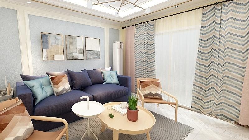 室内面积为100平方米,要求简欧式风格,设计要求温馨点,次卧采光不好.