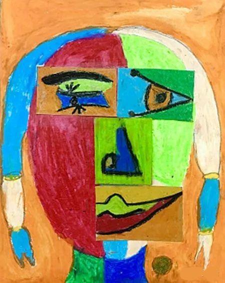 受立体主义画派影响创作的儿童画