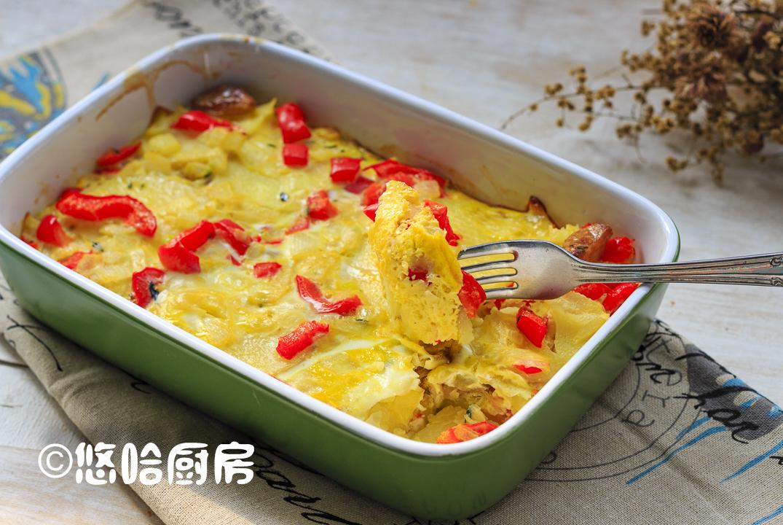 土豆、鸡蛋层层叠叠烤一碗,挑食的娃儿也爱吃,孩子喜欢妈妈省心